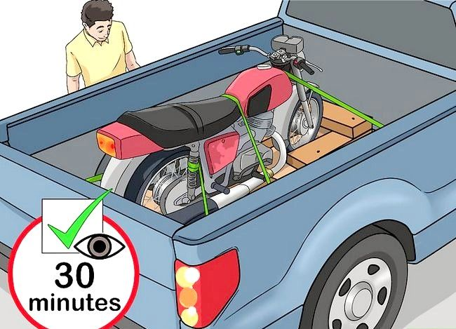 Prent getiteld Haal `n motorfiets stap 10