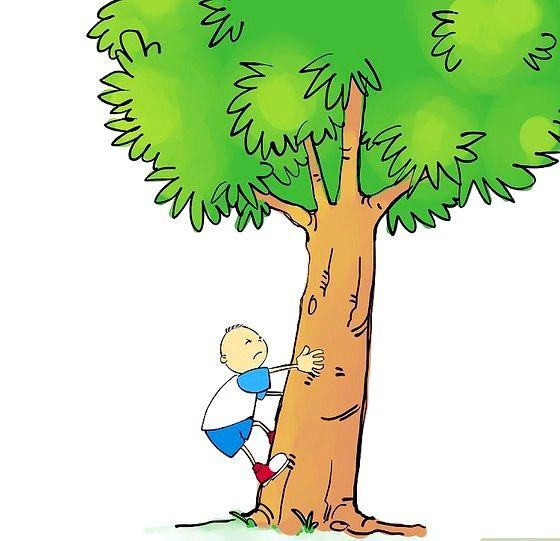 Beeld getiteld 04 Spring op en plant albei voete op die boom. Stap 04