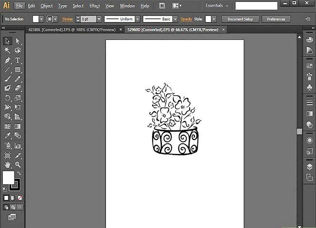 Prent getiteld Gebruik Adobe Illustrator Stap 4