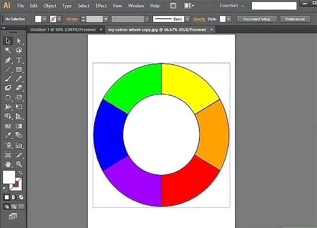 Prent getiteld Gebruik Adobe Illustrator Stap 5