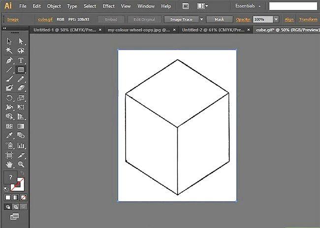Prent getiteld Gebruik Adobe Illustrator Stap 6