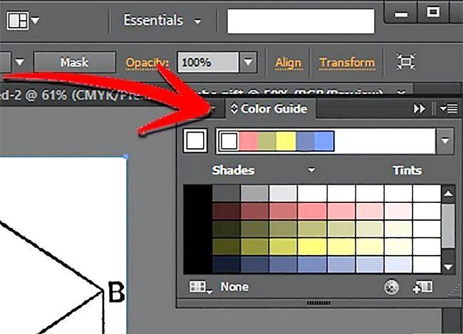 Prent getiteld Gebruik Adobe Illustrator Stap 7