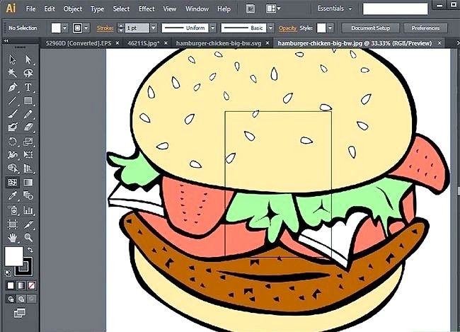 Prent getiteld Gebruik Adobe Illustrator Stap 9