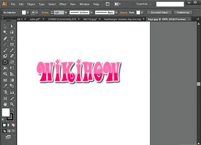 Prent getiteld Gebruik Adobe Illustrator Stap 10