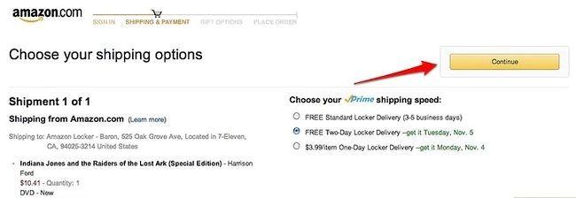 Prent getiteld Gebruik Amazon Locker Stap 5