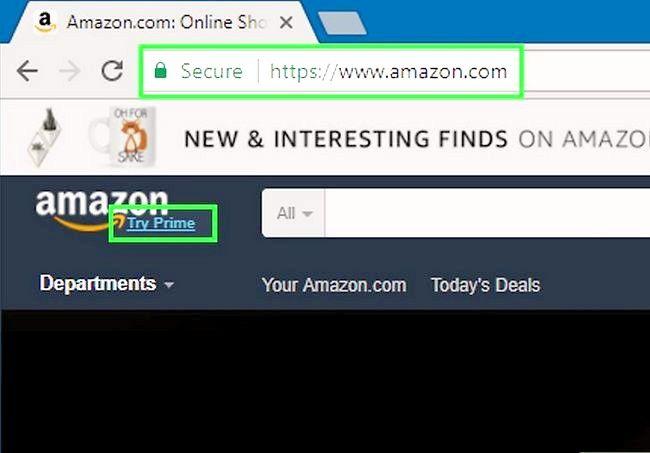 Prent getiteld Gebruik Amazon Prime Step 1