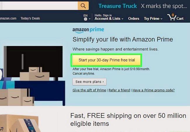 Prent getiteld Gebruik Amazon Prime Step 2
