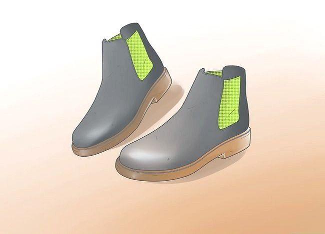 Prent getiteld Dra Chelsea Boots Stap 1