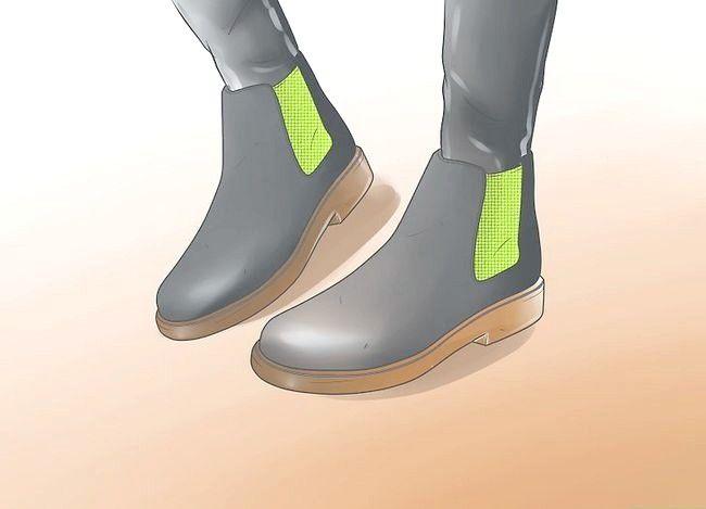 Prent getiteld Dra Chelsea Boots Stap 2
