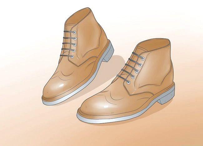 Prent getiteld Dra Chelsea Boots Stap 5