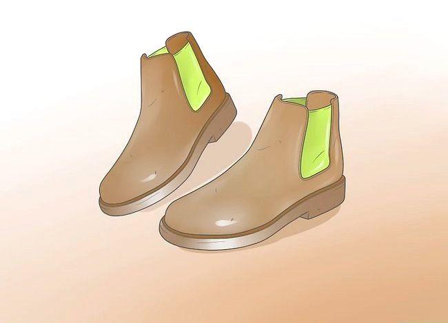 Prent getiteld Dra Chelsea Boots Stap 6
