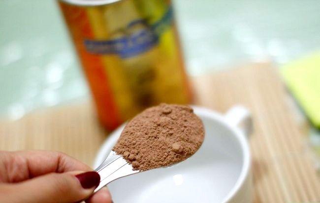 Prent getiteld Gebruik kakao as `n sjokoladevervanger Stap 1