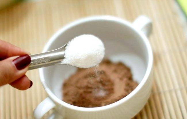 Prent getiteld Gebruik kakao as `n sjokoladevervanger Stap 3
