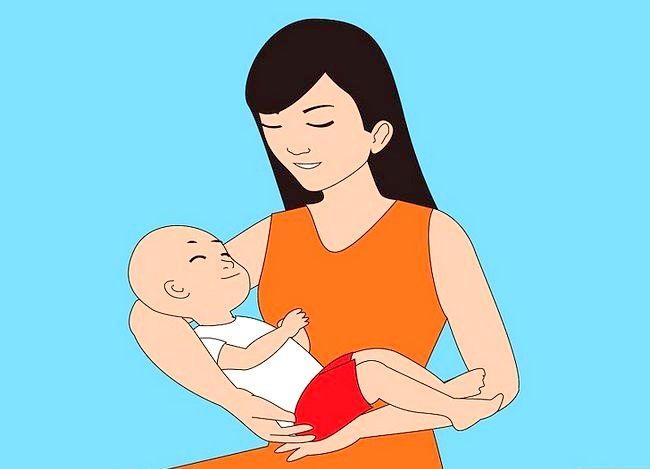 Prent getiteld Gebruik verskillende borsvoedingsposisies Stap 1