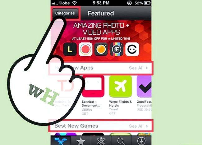 Prent getiteld Gebruik die iPhone App Store Stap 2