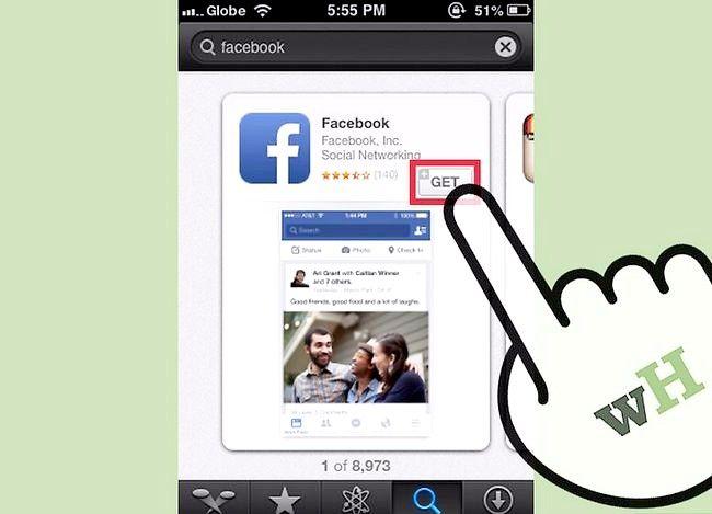 Prent getiteld Gebruik die iPhone App Store Stap 5