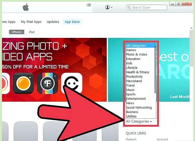 Prent getiteld Gebruik die iPhone App Store Stap 9