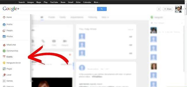 Hoe om gebeure in Google Plus te gebruik