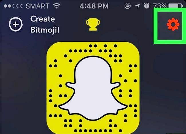 Prent getiteld Gebruik Geofilters op Snapchat Stap 3