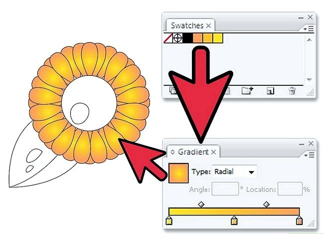 Prent getiteld Gebruik gradiënte in Adobe Illustrator Stap 4