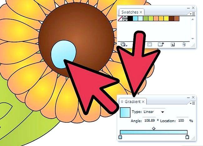 Prent getiteld Gebruik gradiënte in Adobe Illustrator Stap 8