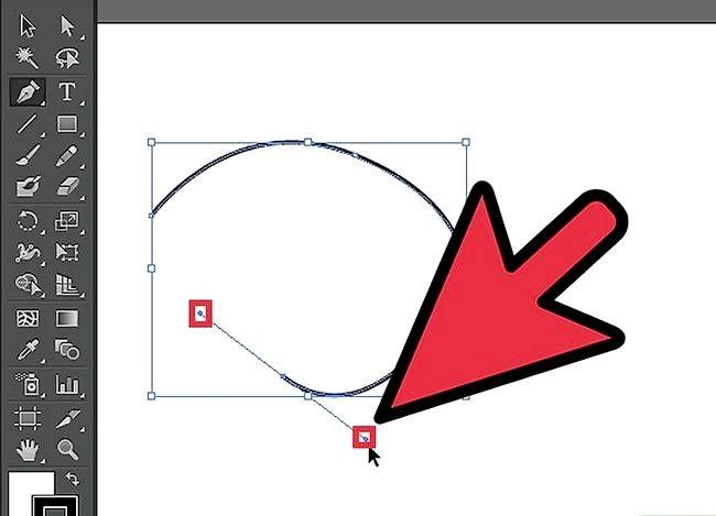 Prent getiteld Gebruik Adobe Illustrator Pen Tool Stap 2