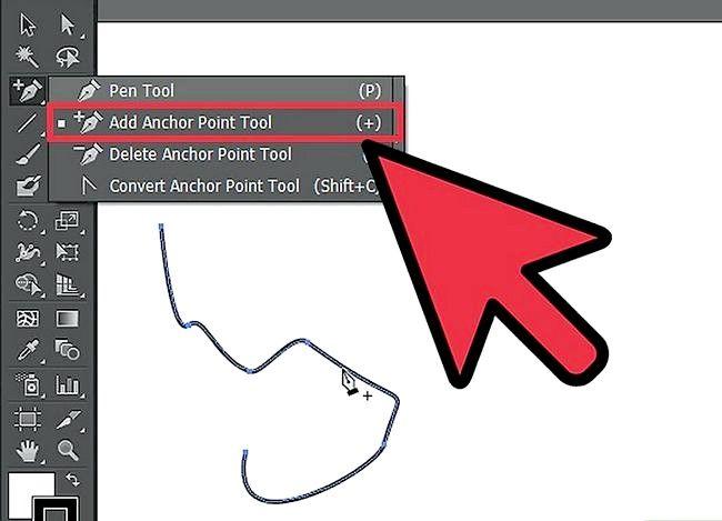 Prent getiteld Gebruik Adobe Illustrator Pen Tool Stap 4
