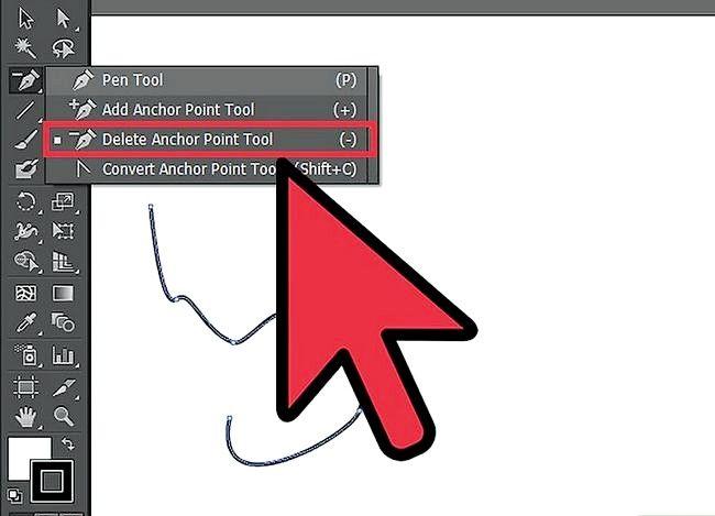 Prent getiteld Gebruik Adobe Illustrator Pen Tool Stap 5