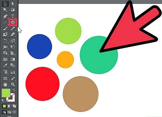 Prent getiteld Gebruik die Adobe Illustrator Lasso Tool Stap 1
