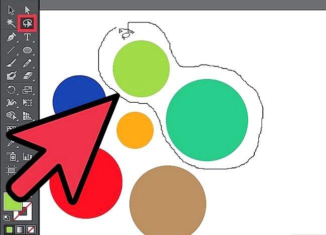 Prent getiteld Gebruik die Adobe Illustrator Lasso Tool Stap 2