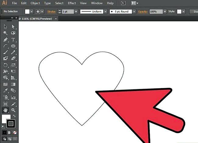 Prent getiteld Gebruik die Borselgereedskap in Adobe Illustrator Stap 1