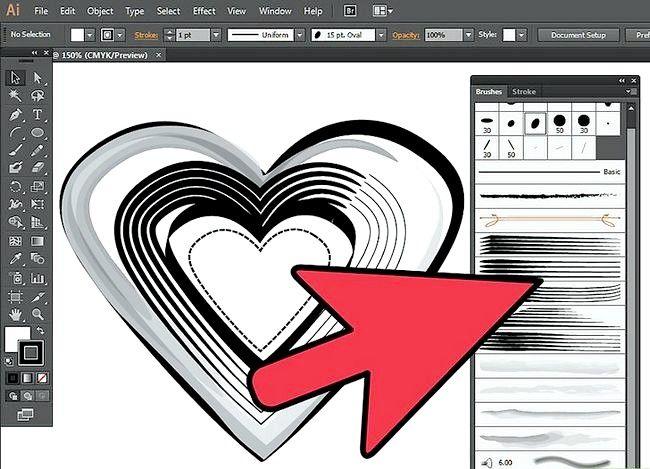 Prent getiteld Gebruik die Borselgereedskap in Adobe Illustrator Step 3