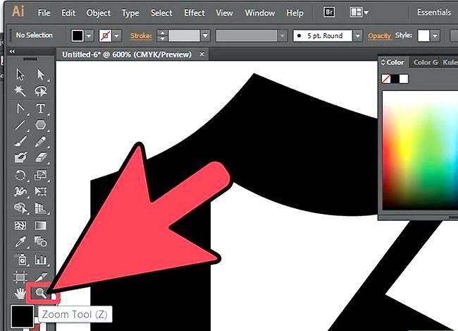 Prent getiteld Gebruik die Lasso Tool in Adobe Illustrator Step 2