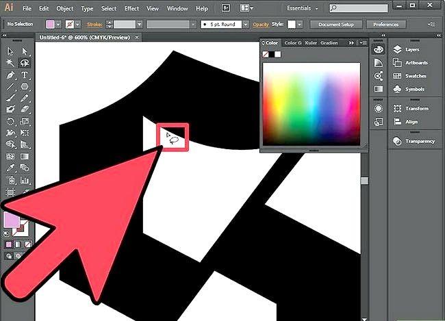 Prent getiteld Gebruik die Lasso Tool in Adobe Illustrator Step 4