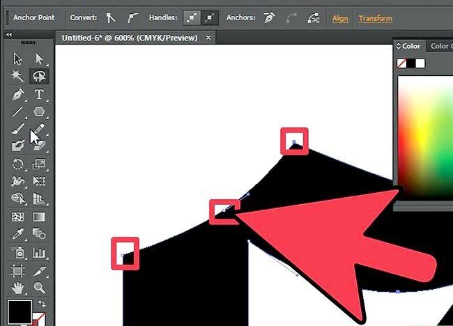 Prent getiteld Gebruik die Lasso Tool in Adobe Illustrator Step 5