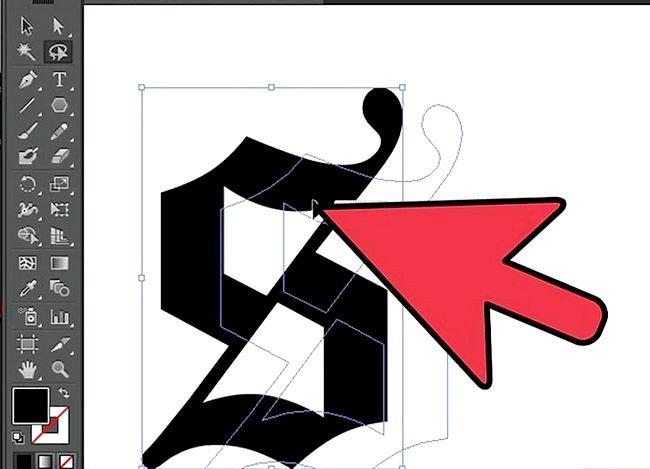 Prent getiteld Gebruik die Lasso Tool in Adobe Illustrator Step 6