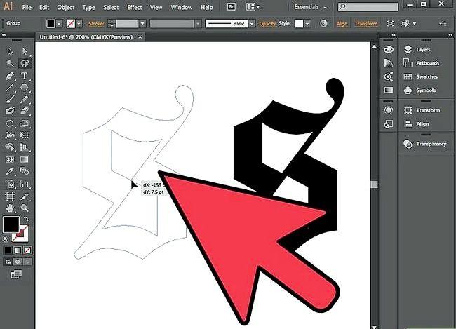 Prent getiteld Gebruik die Lasso Tool in Adobe Illustrator Step 7