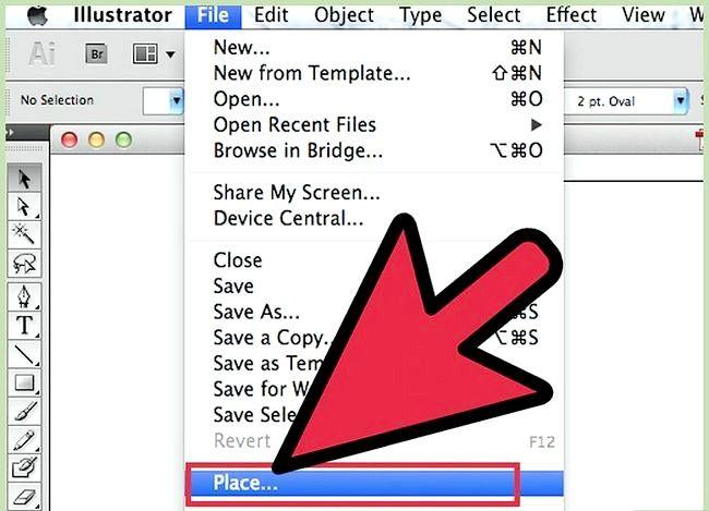 Prent getiteld Gebruik Adobe Illustrator Live Trace Step 1