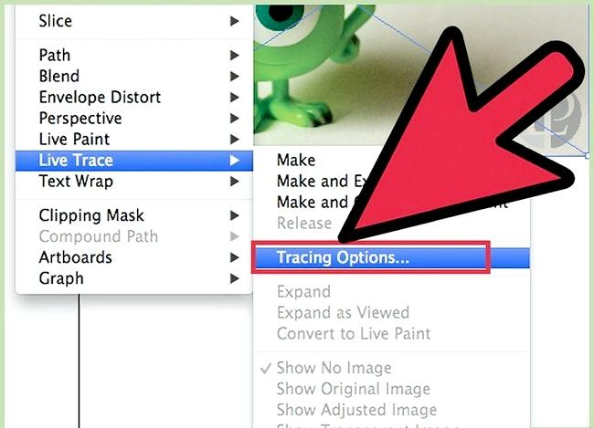 Prent getiteld Gebruik Adobe Illustrator Live Trace Step 2