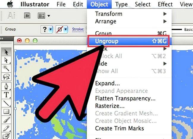 Prent getiteld Gebruik Adobe Illustrator Live Trace Stap 7