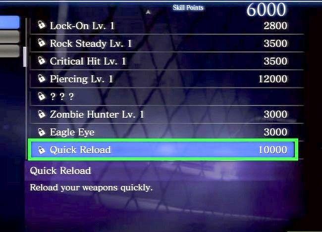 Prent getiteld Gebruik vaardigheidspunte in Resident Evil 6 Step 11