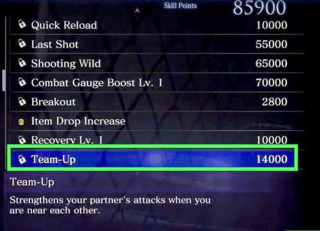 Prent getiteld Gebruik vaardigheidspunte in Resident Evil 6 Step 12