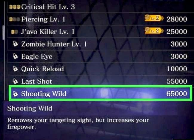 Prent getiteld Gebruik vaardigheidspunte in Resident Evil 6 Stap 13