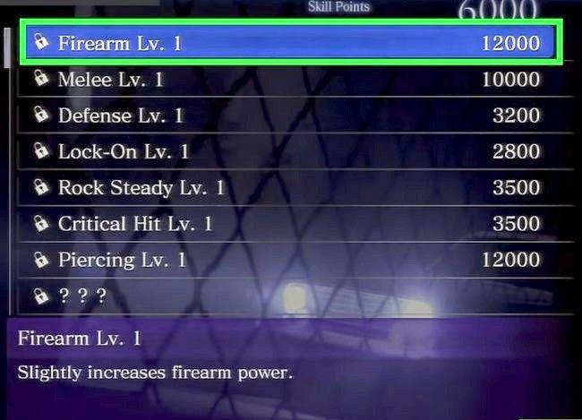 Prent getiteld Gebruik vaardigheidspunte in Resident Evil 6 Stap 5