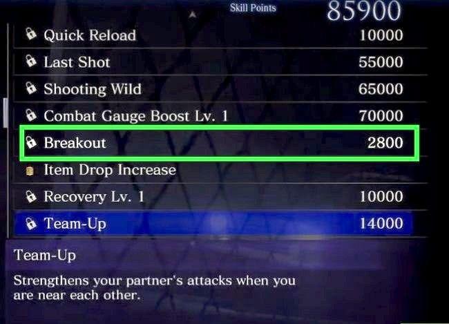 Prent getiteld Gebruik vaardigheidspunte in Resident Evil 6 Step 9