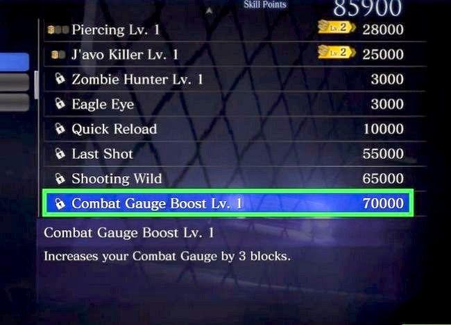 Prent getiteld Gebruik vaardigheidspunte in Resident Evil 6 Step 10