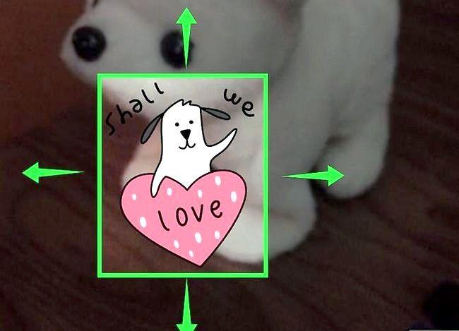 Prent getiteld Gebruik 3D-stickers in Snapchat Stap 6