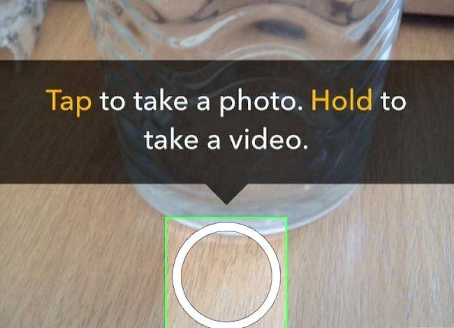 Prent getiteld Gebruik verskeie filters op Snapchat Stap 1
