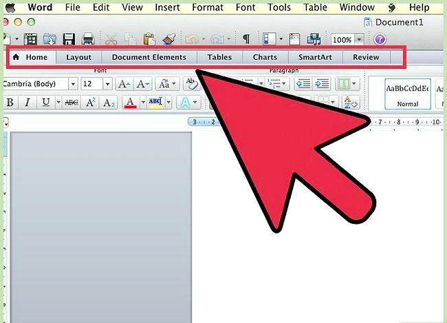 Prent getiteld Gebruik Microsoft Office Word 2007 Step 1