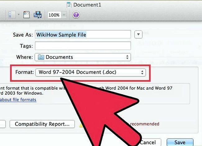 Prent getiteld Gebruik Microsoft Office Word 2007 Stap 13